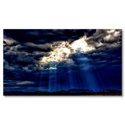 Αφίσα (νεφελώδης, ουρανός, μαύρο, λευκό, άσπρο)